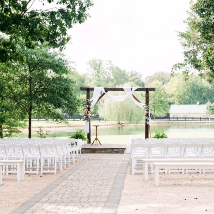 Ceremony set up design by Atlanta wedding planner